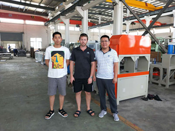 Welcome Australia Customers To Visit Us for Pipe Punching Machine